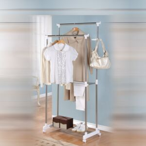 GARMENT RACK DOUBLE BAR MAXPLUS